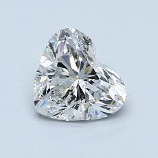 1.00-Carat Heart Diamond Very Good E SI2