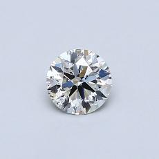0.32-Carat Round Diamond Ideal K SI1