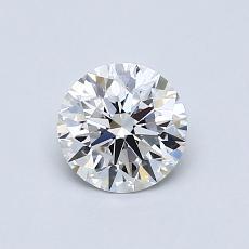 0.70 Carat 圓形 Diamond 理想 D VVS1