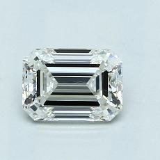 0.90-Carat Emerald Diamond Very Good H VVS1