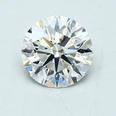 1.05-Carat Round Diamond Ideal F VVS1
