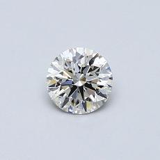 0.35-Carat Round Diamond Ideal I VVS2