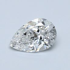0.72-Carat Pear Diamond Very Good E SI2