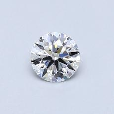 0.42-Carat Round Diamond Ideal E VS2