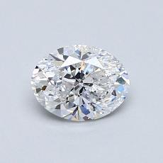 0.70 Carat 椭圆形 Diamond 良好 D SI2