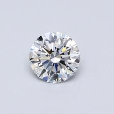 0.41-Carat Round Diamond Ideal D IF