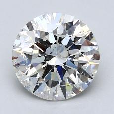 2.02-Carat Round Diamond Ideal G SI2