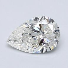 1.00-Carat Pear Diamond Very Good G SI1