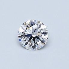 0,41-Carat Round Diamond Ideal D FL