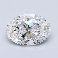 1.20-Carat Oval Diamond Very Good D VS2