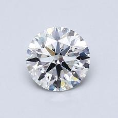 0,80 Carat Rond Diamond Idéale F VS1