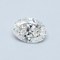 0.50 Carat 椭圆形 Diamond 非常好 F VS2