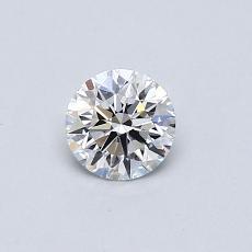 0.41-Carat Round Diamond Ideal G IF