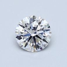 0,75-Carat Round Diamond Ideal D SI1