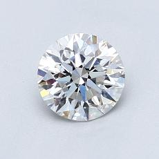 0.82-Carat Round Diamond Ideal D VVS2
