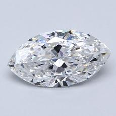 0,96-Carat Marquise Diamond Very Good D SI2