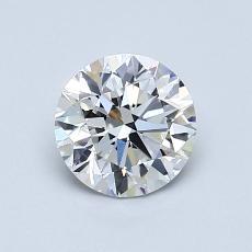 0.90 Carat 圆形 Diamond 理想 D VVS2