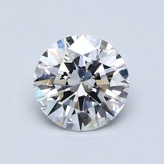 0,93-Carat Round Diamond Ideal D FL