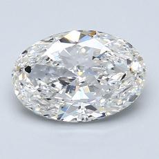1.51 Carat 橢圓形 Diamond 非常好 E VS2