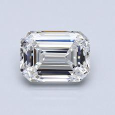 1.03-Carat Emerald Diamond Very Good F VVS1