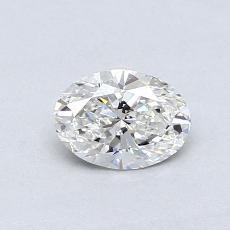 0.51 Carat 椭圆形 Diamond 非常好 G VS1