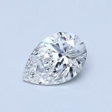 0.51-Carat Pear Diamond Very Good D VVS1