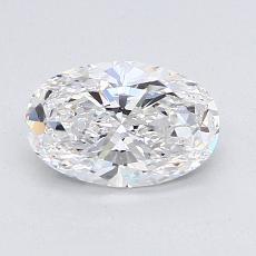 目标宝石:1.01克拉椭圆形切割钻石