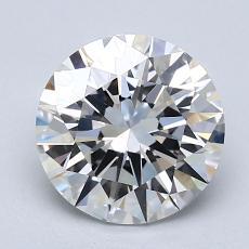 2.02-Carat Round Diamond Ideal F VVS2