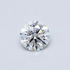 0.40-Carat Round Diamond Ideal D VVS2