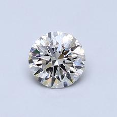 0,52 Carat Rond Diamond Idéale I VVS2