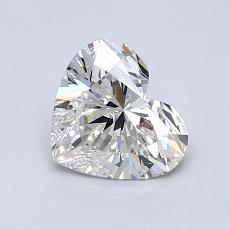 Pierre recommandée n°1: Diamant taille cœur 0,99carat