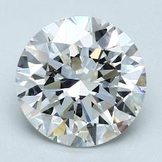 3.01-Carat Round Diamond Ideal F VS1