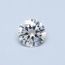 所選擇的鑽石: 0.33 克拉圓形切割鑽石
