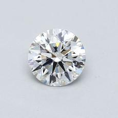 0.57-Carat Round Diamond Ideal F VS2