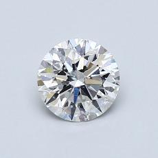 0,71-Carat Round Diamond Ideal D SI1