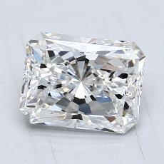 Pierre recommandée n°1: Diamant Taille radiant de 1,29carat