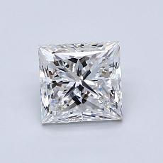 1.01 Carat 公主方形 Diamond 非常好 E VS1