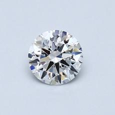 0.53-Carat Round Diamond Ideal D FL