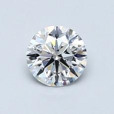 0.70 Carat 圆形 Diamond 理想 E VS2