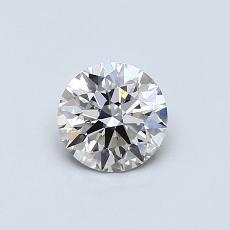 0.53-Carat Round Diamond Ideal I VVS2