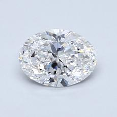 0.80-Carat Oval Diamond Very Good D VS2
