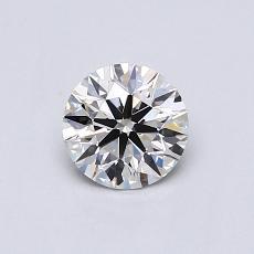 0.50 Carat 圓形 Diamond 理想 G VVS2
