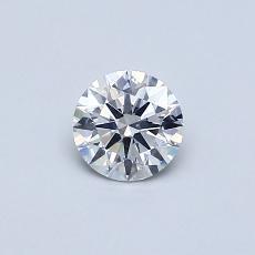 0.40 Carat 圓形 Diamond 理想 E SI1