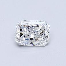 0,52-Carat Radiant Diamond Very Good D VVS1