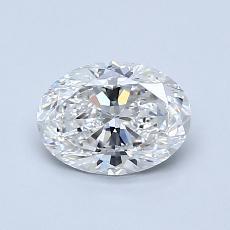 0.92-Carat Oval Diamond Very Good E VVS1