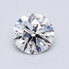 1.00 Carat 圆形 Diamond 理想 F VVS2