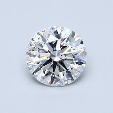 0.75 Carat 圓形 Diamond 理想 D SI1