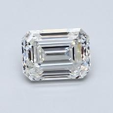 1.00-Carat Emerald Diamond Very Good G VVS2