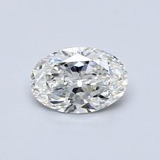 0.50 Carat 橢圓形 Diamond 非常好 F VS1