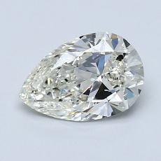 1.00-Carat Pear Diamond Very Good J SI2